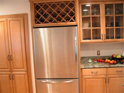 cabinet above fridge wine rack cabinet over refrigerator woodworking projects
