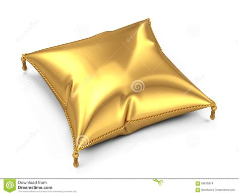 golden pillow stock illustration image 58879874