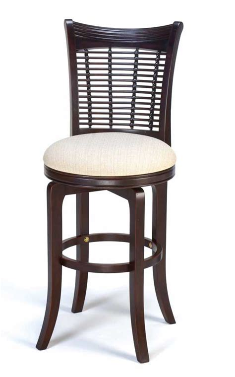 Cherry Wood Bar Stool by Hillsdale Bayberry Wicker Swivel Wood Bar Stool