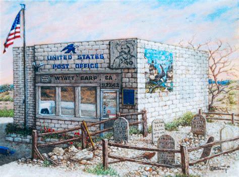 janet krusk s wyatt earp post office original painting