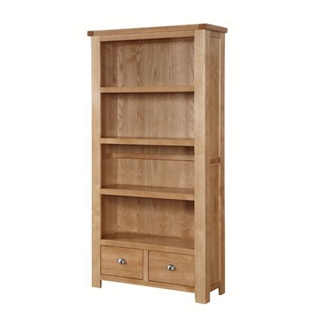 High Bookshelves Solero High Bookcase In Ashwood With 2 Drawers 27871