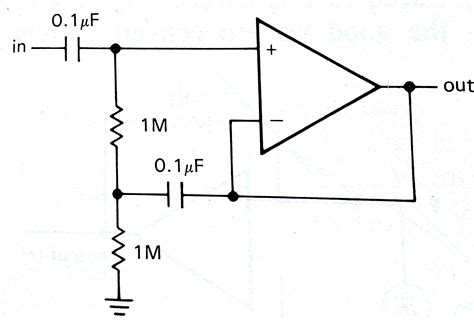 op capacitor across inputs op bootstrapped resistor a current source or open circuit electrical engineering stack