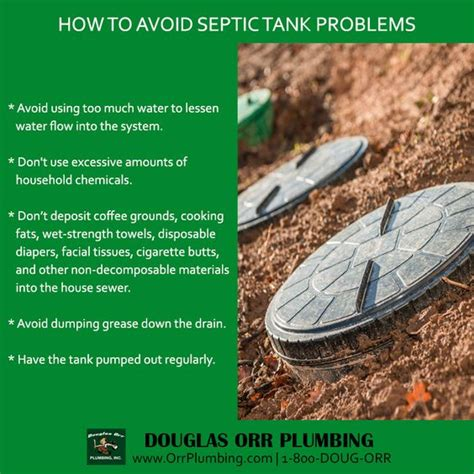 Orr Plumbing by Prevent Septic Tank Problems Follow These Tips Douglas