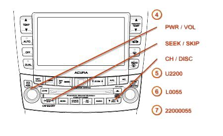 2008 acura tl radio code acura radio codes dch montclair acura