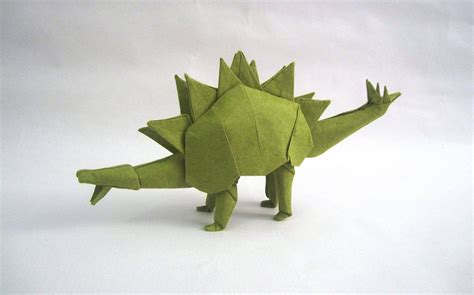 Origami Stegosaurus - this week in origami autumn dinosaur edition