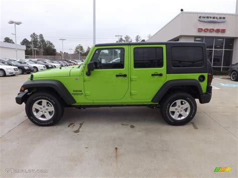 green jeep wrangler unlimited gecko green pearl 2013 jeep wrangler unlimited sport s 4x4