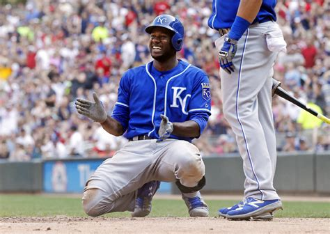 check swing home run after getting call check swing cain lifts royals against