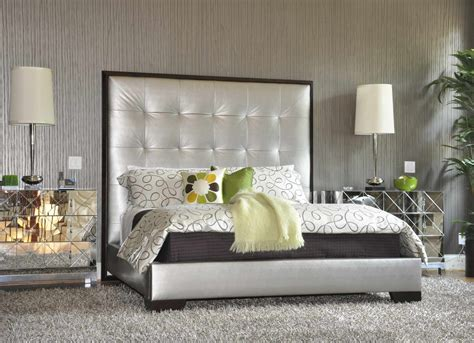bedroom nightstand ideas bedroom modern mirrored nightstand design with beds and