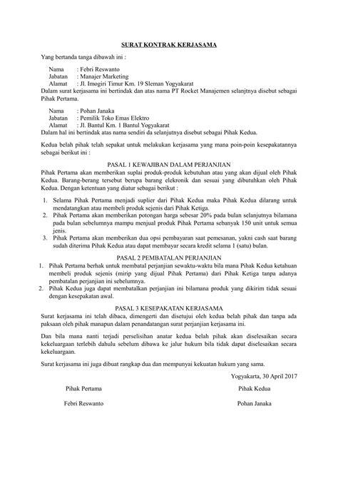 contoh surat kerjasama tour 28 images penawaran
