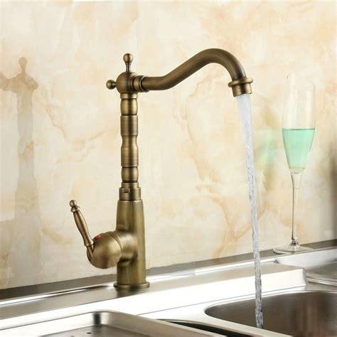 Crane Faucets by 12 Quot Antique Brass Faucets Kitchen Swivel Crane Sink