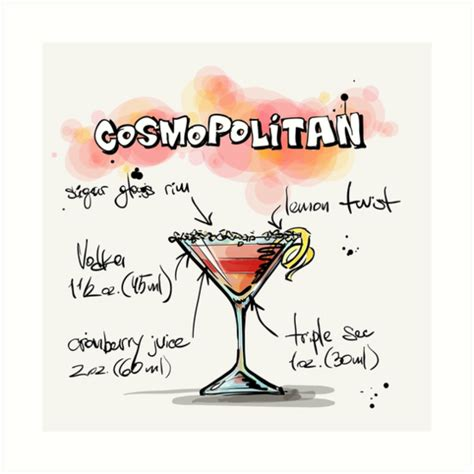 cosmopolitan clipart quot cosmopolitan cocktail illustration with recipe quot