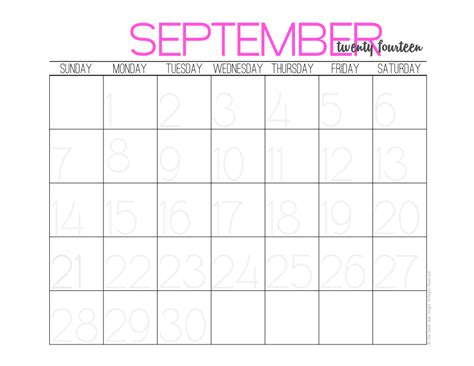 printable monthly planner september 2014 hey it s sj diy calendar and free 2014 monthly calendar