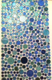 Mosaic tile designs in ceramic glass porcelain pool floor
