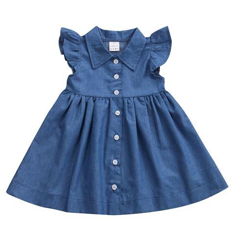 Dress Babycute Coksu denim princess pageant casual tulle tutu dress infant baby dresses casual