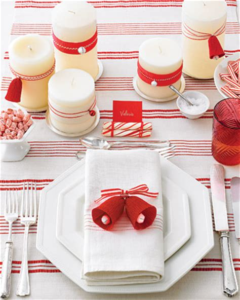 red and white christmas table christmas themes ideas for 2010 planning with kids