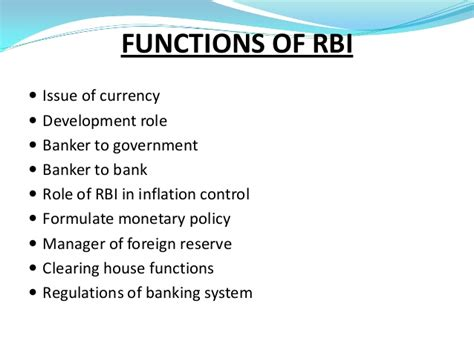 What Is The Purpose Of The Department Of Interior by Rbi Ppt