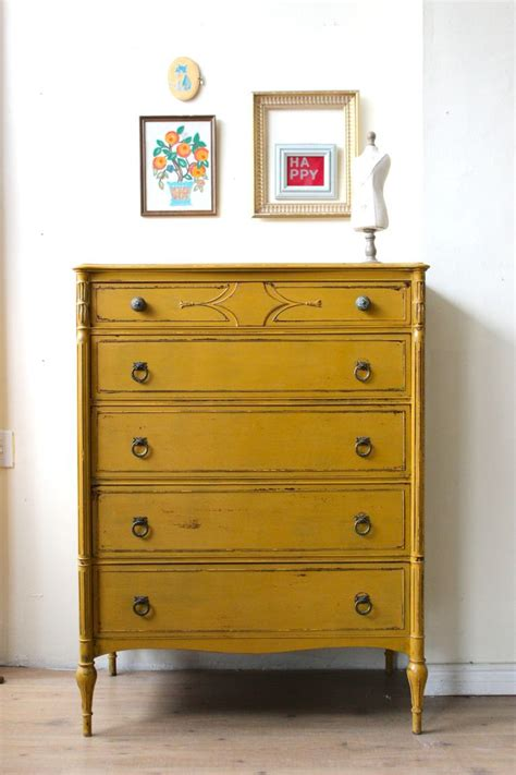 Painted Yellow Dresser by Mustard Yellow Dresser Painted With Milk Paint Work Yellow Dresser Milk