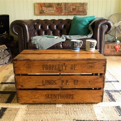 Crate Style Coffee Table Vintage Industrial Rustic Farm Plank Crate Chest Coffee Table Trunk Tv Stand Vw