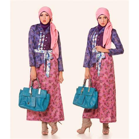 Gamis Pink baju gamis muslim pesta modern ungu pink