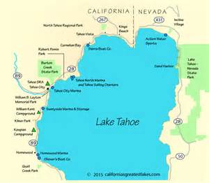 map lake tahoe california lake tahoe boating map