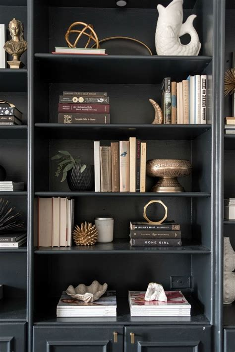 styling bookshelves best 25 black bookcase ideas on black library