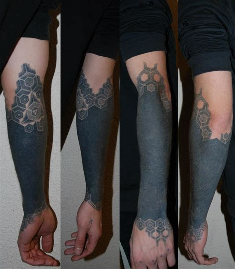 blacked out arm tattoo 30 blackout tattoos girly design