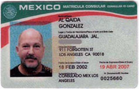 mexican id card template homeland security accepts id 171 dvorak news