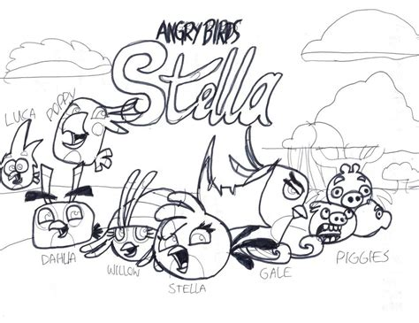 angry birds gale coloring pages angry birds stella coloring page by tiffanyangrybirds23 on