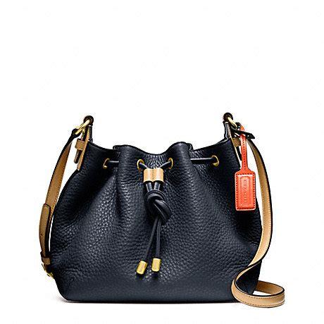 Coach Crossbody Midnight 2 coach f25305 soft pebbled leather drawstring crossbody brass midnight coach handbags
