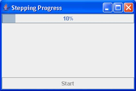 progress bar swing techtrony progressbar step