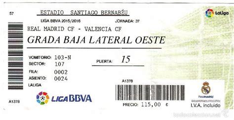 entradas del real madrid ef 06 entrada de futbol del real madrid valen vendido