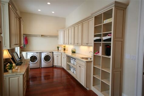 Modern Laundry Room Cabinets And Practical Storage Built In Wall Laundry
