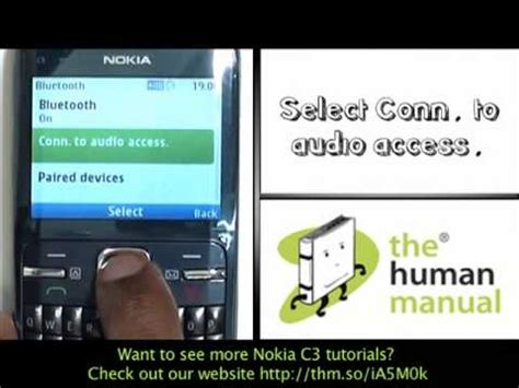 Headset Nokia C3 by Pairing With A Bluetooth Headset Nokia C3 The Human