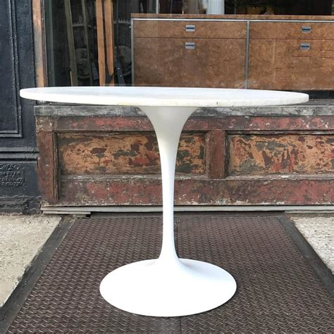 Eero Saarinen Marble Top Dining Table For Sale Eero Saarinen Tulip Base Dining Table With White Carrara