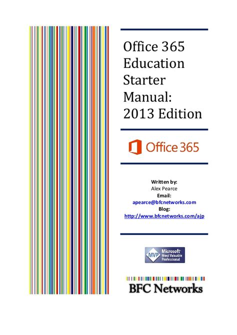 Office Education by Office365 Education Starter Manual 2013 Edition