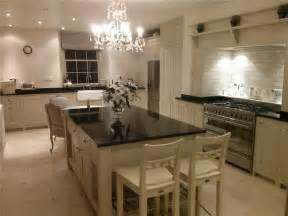 Kitchen units painted with farrow amp ball stony ground ceiling