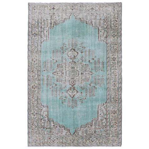 Aqua Blue Rug by Vintage Oushak Rug With Aqua Blue Color For Sale At 1stdibs