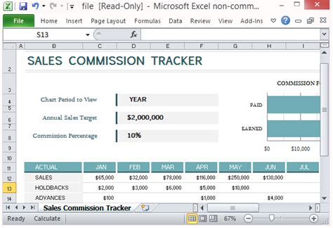 Sales Commission Report Template Excel Sales Commission Tracking Template For Microsoft Excel