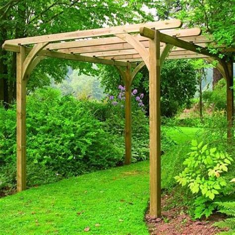 Wooden Garden Arch Kits Forest Ultima Wooden Pergola Kit 3 6 X 3 6m Pergola Kits