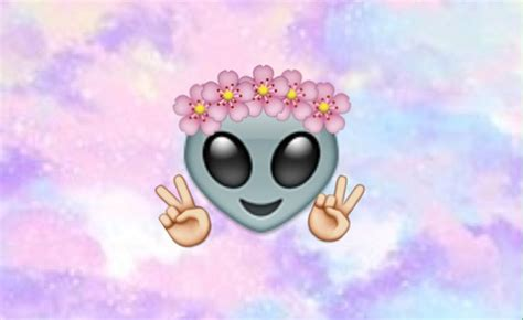 Emoji Marciano Flowers Hands Galaxy We Heart It Alien