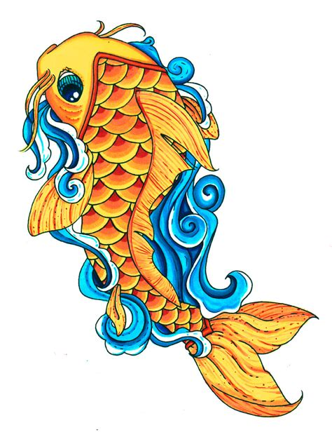 Koi Fish Clipart colorful koi fish drawings clipart best clipart best