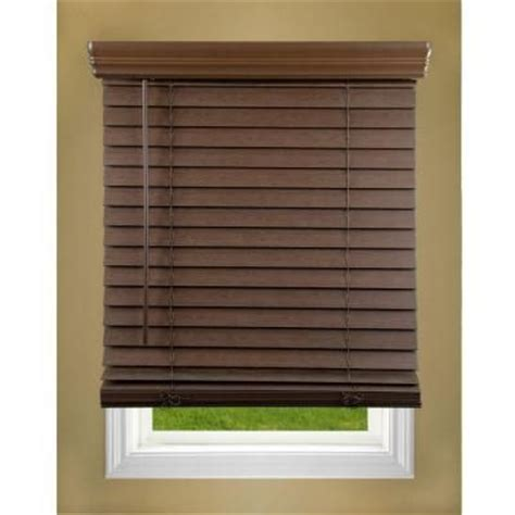 Cordless Wood Blinds Lift Window Treatment Oak 2 In Cordless Faux