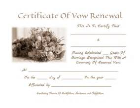 wedding vows template wedding vow renewal certificate invitations ideas