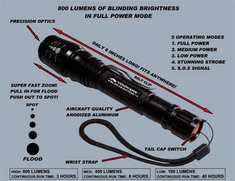lumens flashlight chart lumens comparison chart flashlight