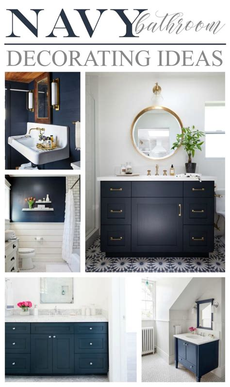 blue bathroom decorating ideas navy bathroom decorating ideas