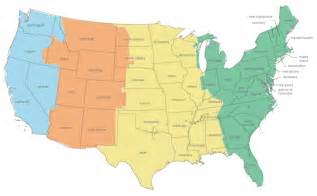 Times Zones Map by Us Time Zone Map
