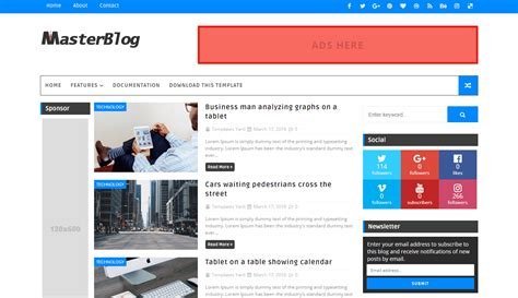 best paid blogger templates master template templatesyard free