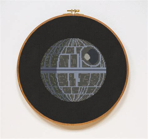 star pattern in c pdf death star star wars cross stitch pattern modern starwars