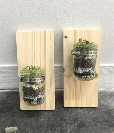 jar planter how to make a wall mounted jar planter