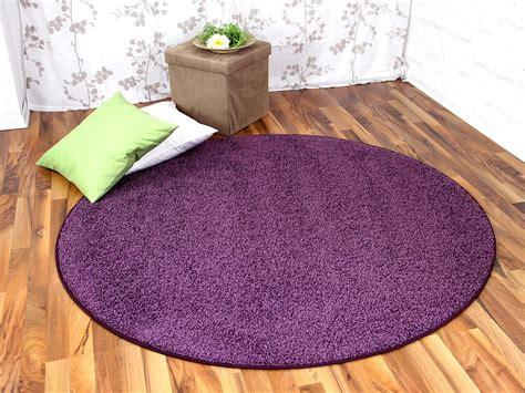 hochflor shaggy teppich prestige flieder rund abverkauf - Teppich Rund Lila